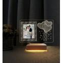 Sevgililer Günü Hediyesi Resimli Gece Lambası Sevgiliye Hediye 3d Kalp