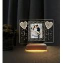 Sevgililer Günü Hediyesi Resimli Gece Lambası Sevgiliye Hediye Kalpler