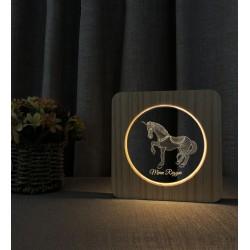 Unicorn At İsimli Doğum Günü Hediyesi Ahşap İsimli Gece Lambası
