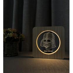 StarWars Darth Vader Asker Doğum Günü Hediyesi Ahşap İsimli Gece Lamba
