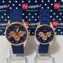 Lacivert-Altın Sevgili Saati Çift Saatler Sevgiliye Hediye Saat